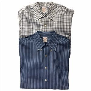 Brooks Brothers Two Long Sleeve Men's Dress Shirts